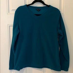 Lands End V Neck fleece sweatshirt